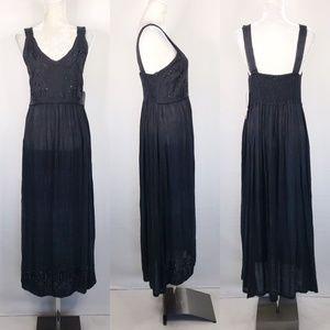 Raya Sun Maxi Dress Small Navy Boho Sleeveless NWT